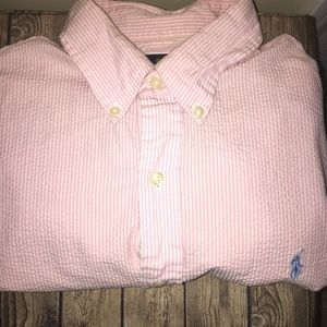 Men's Polo Button down (Large Short Sleeve)